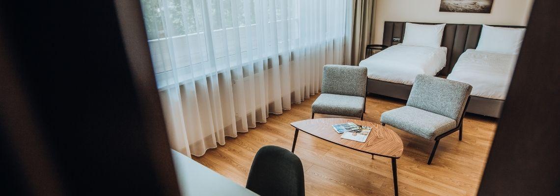 Dviejų kambarių apartamentai (kieta grindų danga)