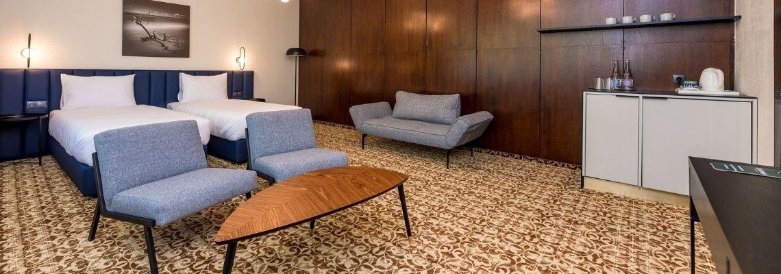 Dviejų kambarių apartamentai (kiliminė grindų danga)